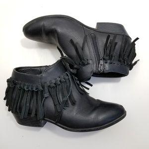 Sam Edelman | vegan leather fringe booties